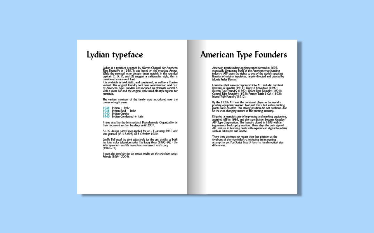 Thom Trouwborst Fontbook – Lydian